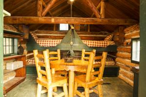 Log Cabin Inside photos large group family vacation rentals