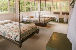 Swinging Beds on Porch